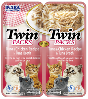 Inaba Cat Twin Packs Tuna with Chicken in Tuna Flavored Broth