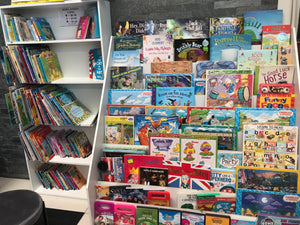 Zero to Five have a large range of children's books. Located at 49 Totara Street, Mount Maunganui.