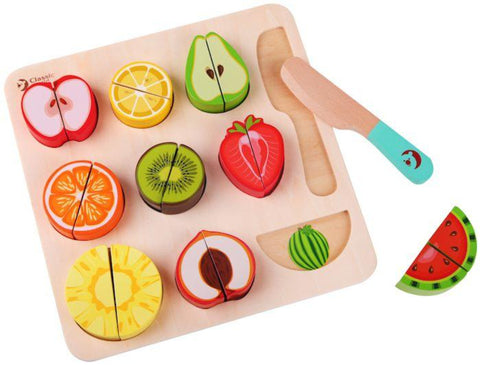 NEW Wooden cutting fruit puzzle