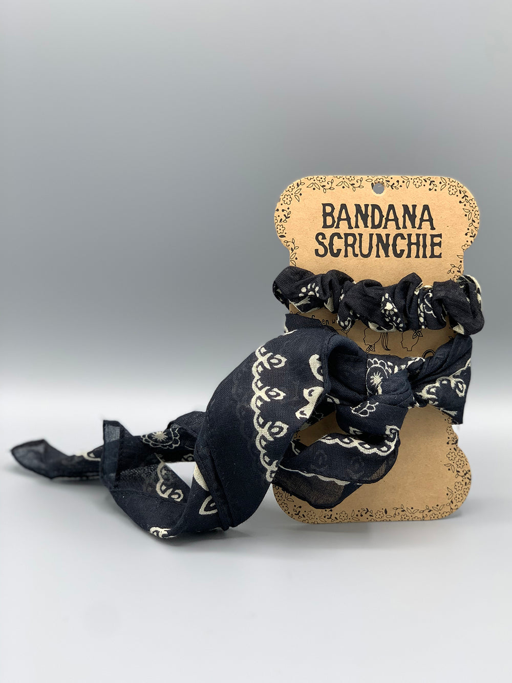 Natural Life Bandana Scrunchies
