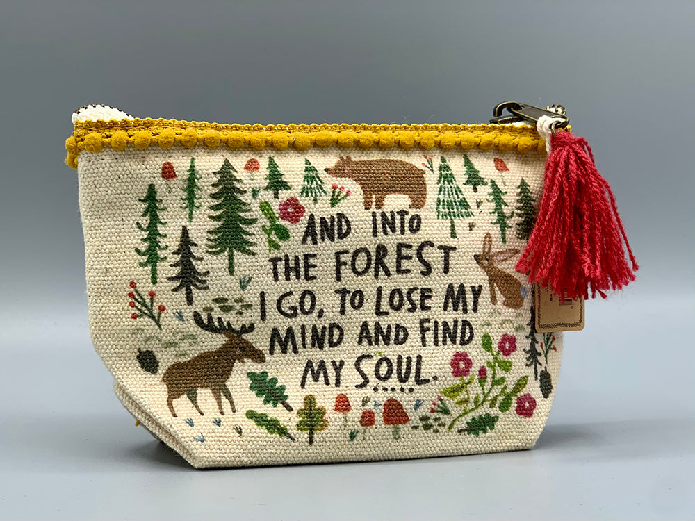 Natural Life - Mini Canvas Pouch - Forest