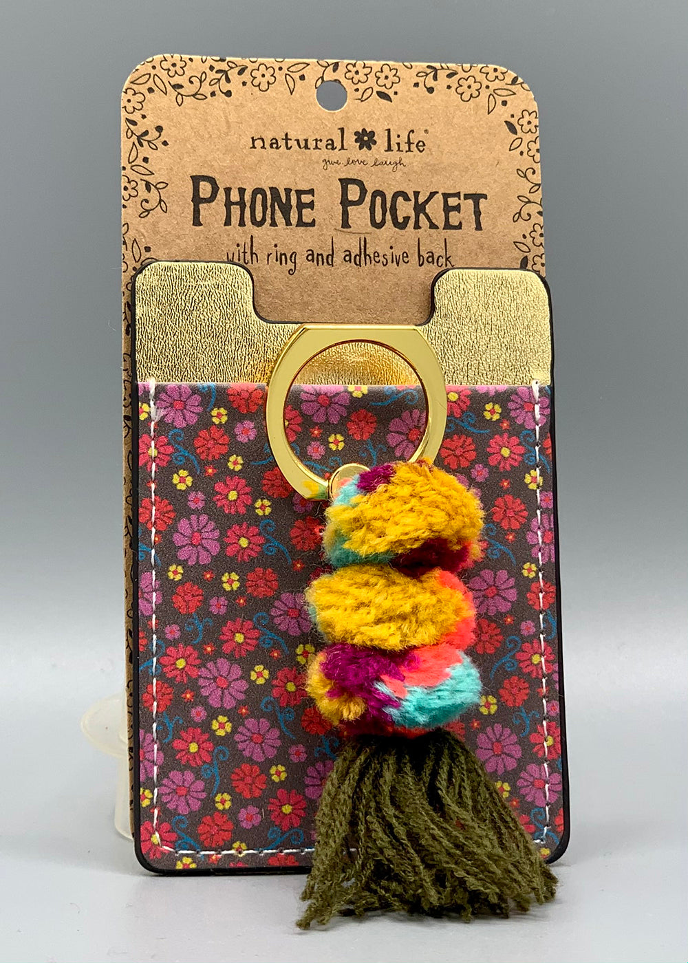 Natural Life - Phone Pocket Ring - Floral