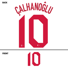 Load image into Gallery viewer, Turkey  Calhanoglu Name Kit (Red)