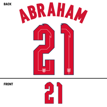 Load image into Gallery viewer, England Abraham Name Kit (Red)