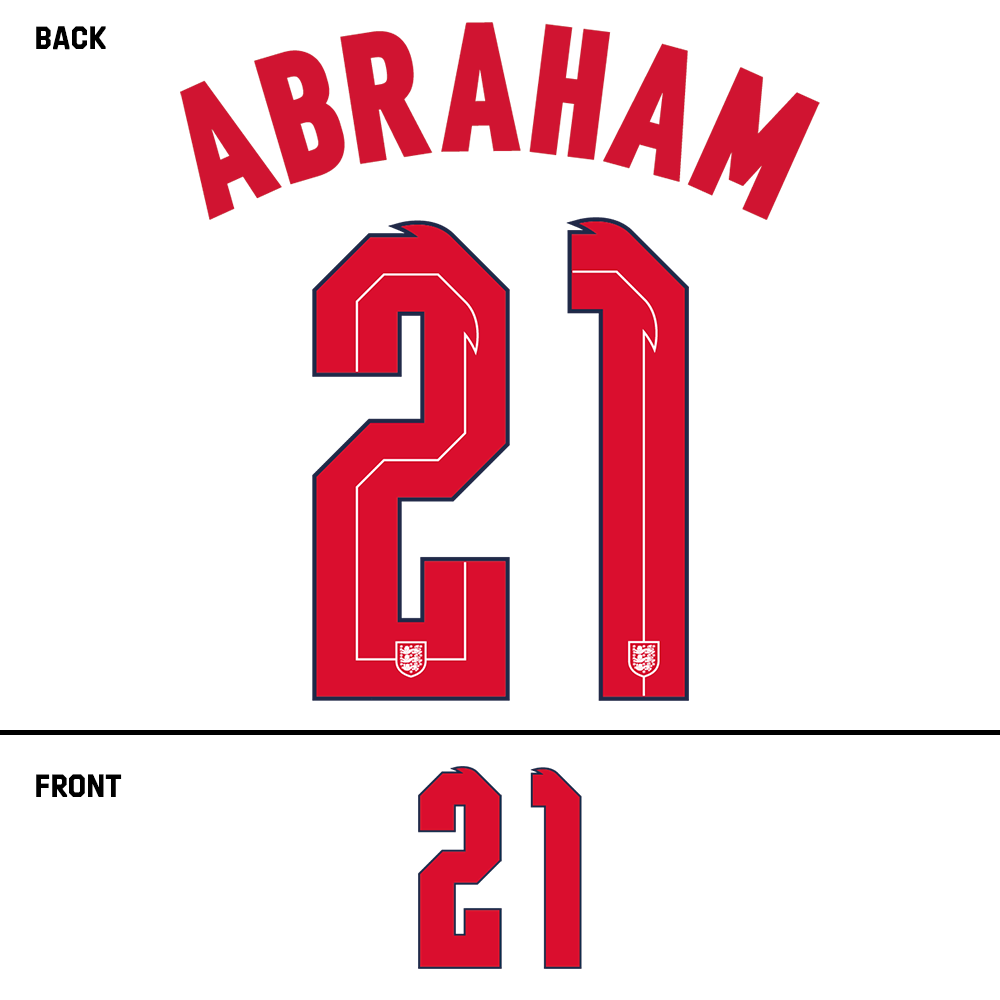 England Abraham Name Kit (Red)