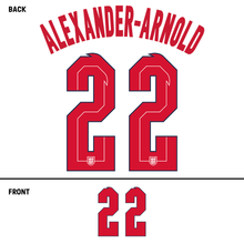 Load image into Gallery viewer, England Alexander-Arnold Name Kit (Red)