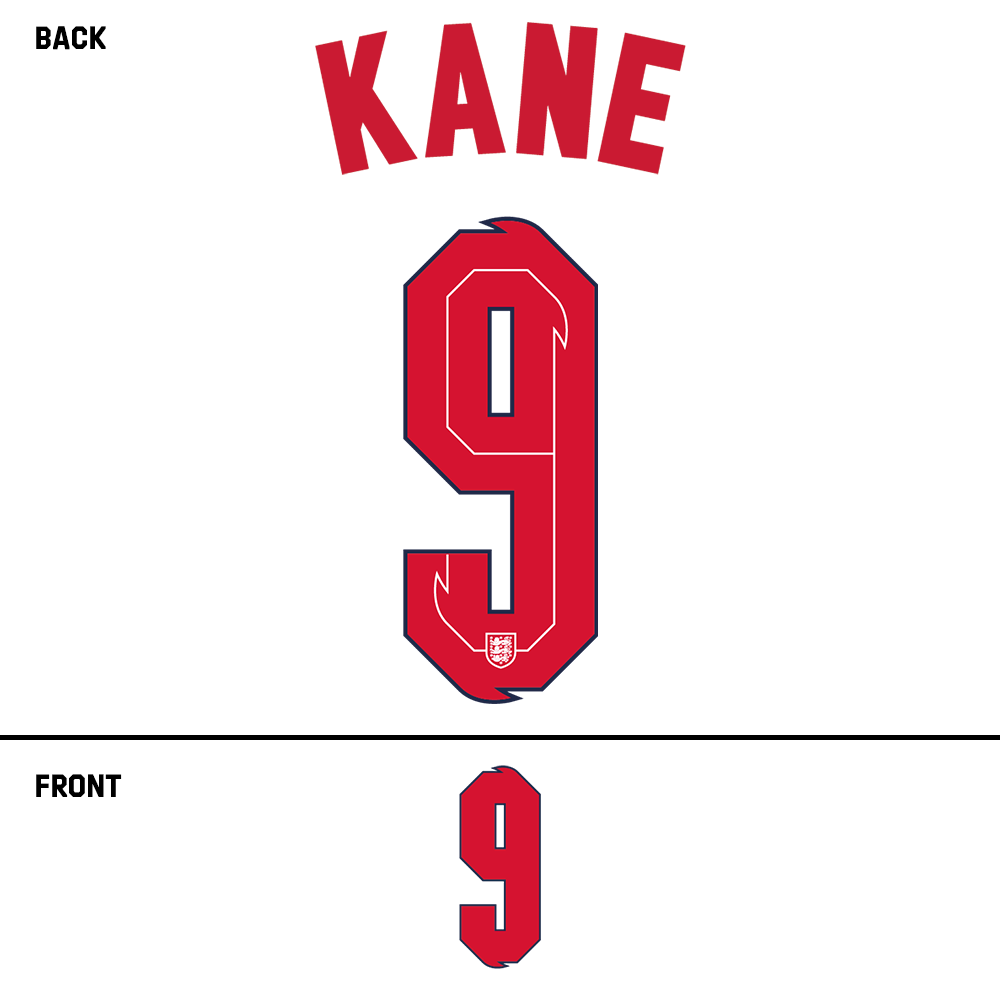 England Kane Name Kit (Red)