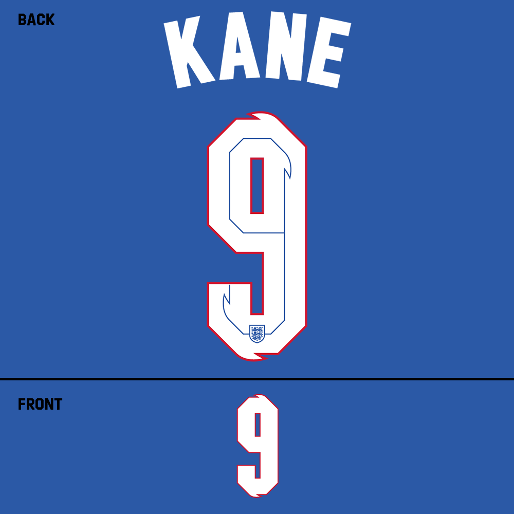 England Kane Name Kit (White)