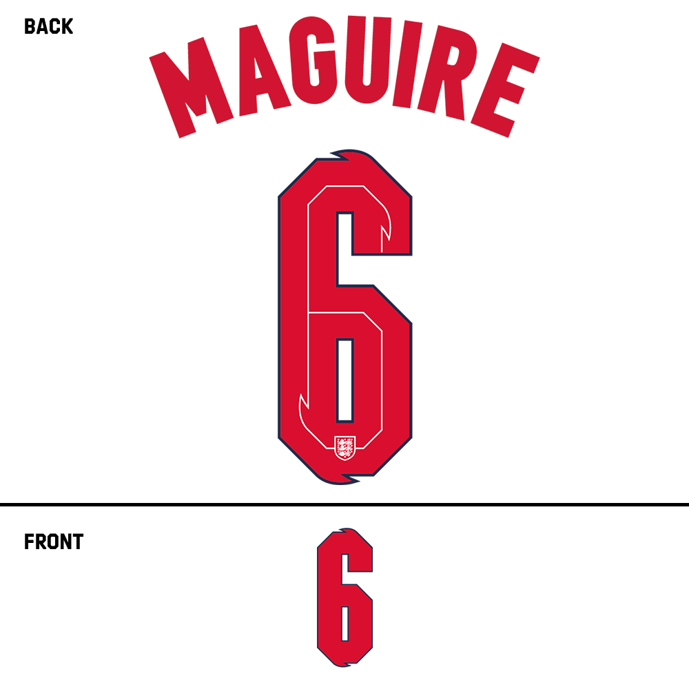 England Maguire Name Kit (Red)