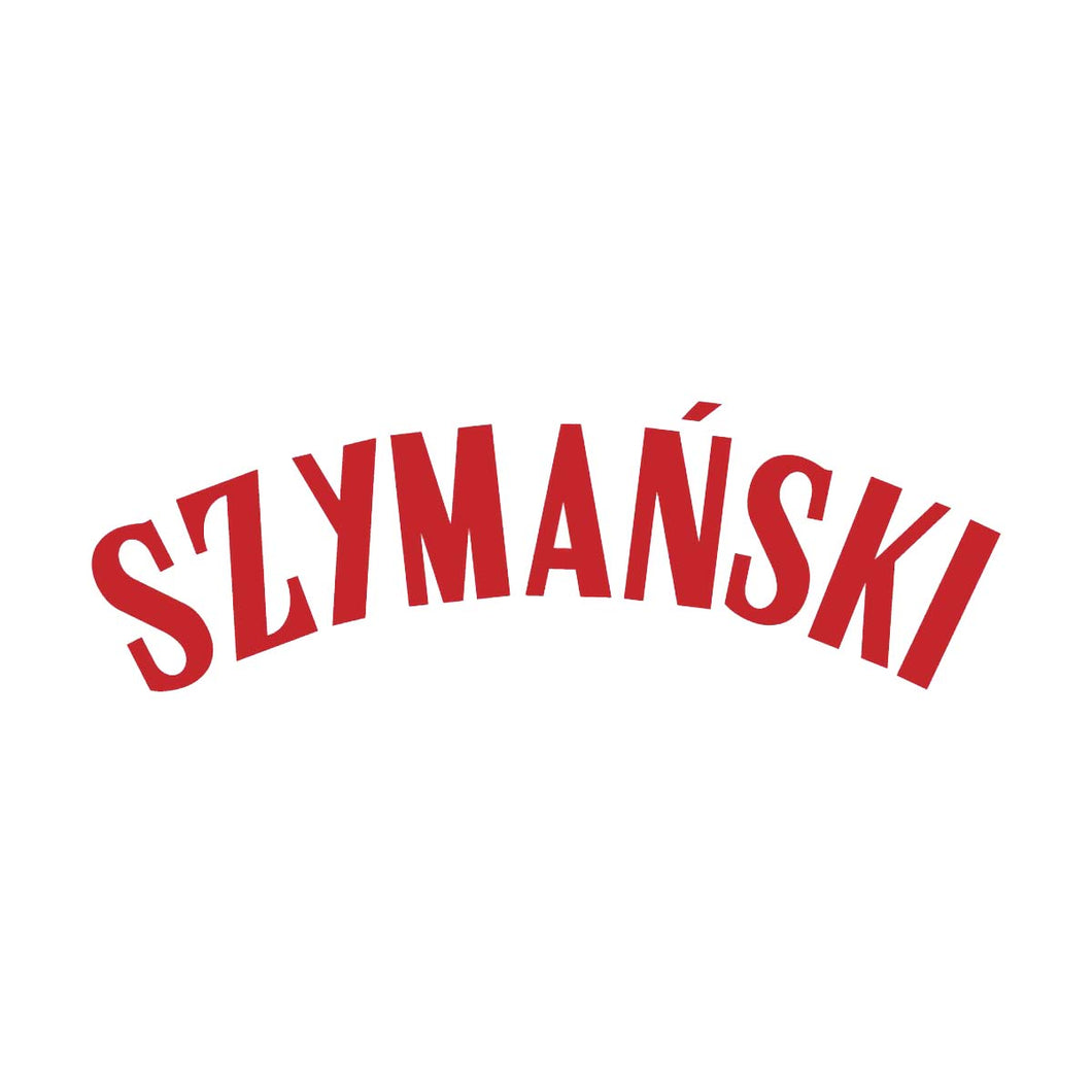 Poland Szymanski Name Block (Red)