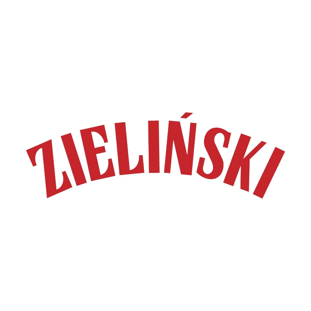 Poland Zielinski Name Block (Red)