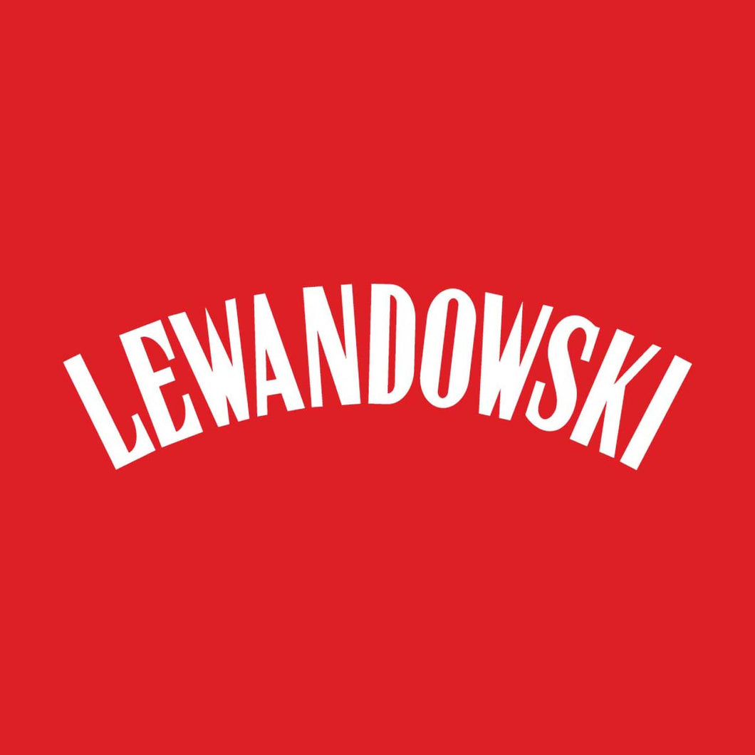 Poland Lewandonwski Name Block (White)