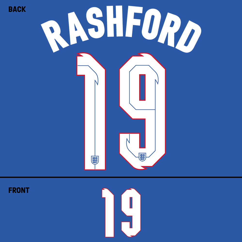 England Rashford Name Kit (White)