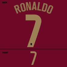 Load image into Gallery viewer, Portugal Ronaldo Name Kit (Gold)
