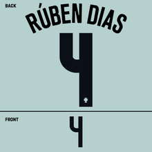 Load image into Gallery viewer, Portugal Ruben Dias Name Kit (Black)
