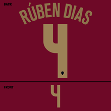 Load image into Gallery viewer, Portugal Ruben Dias Name Kit (Gold)