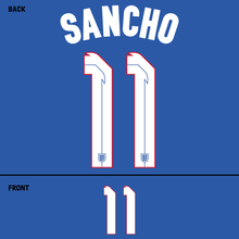 Load image into Gallery viewer, England Sancho Name Kit (White)