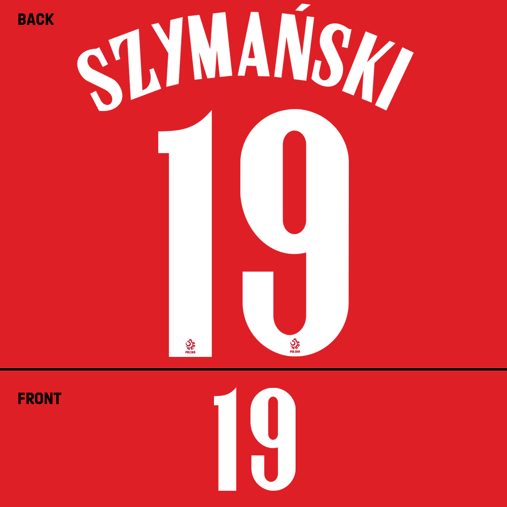 Poland Szymanski Name Kit (White)