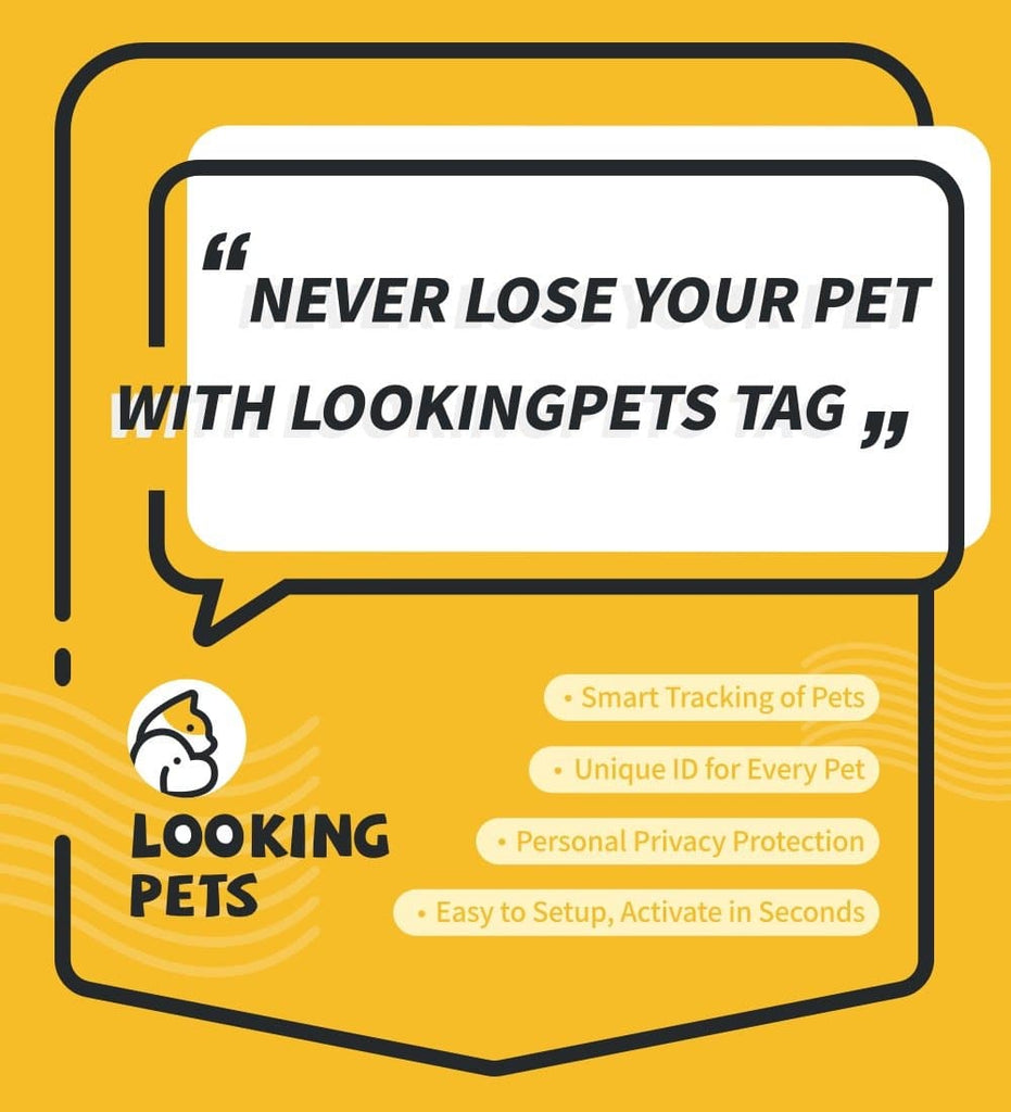 Lookingpets ID Tag for all Pets, Protect Your Pet for Life