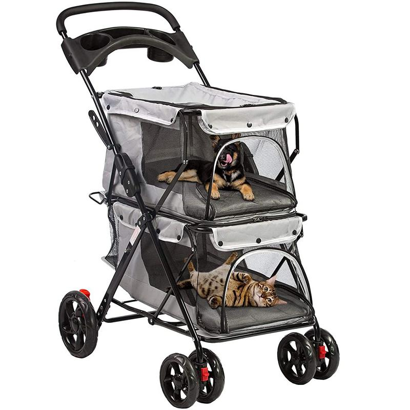 Double Pet Stroller for 2 Dogs or Cats, 2020 Collection