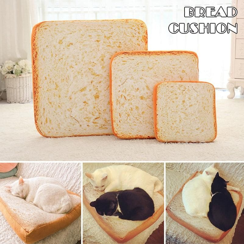 Pet Mats & Bed & Sofa Soft Warm Slice Toast Bread Design