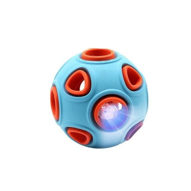 Interactive Glowing Rubber Ball with Bell