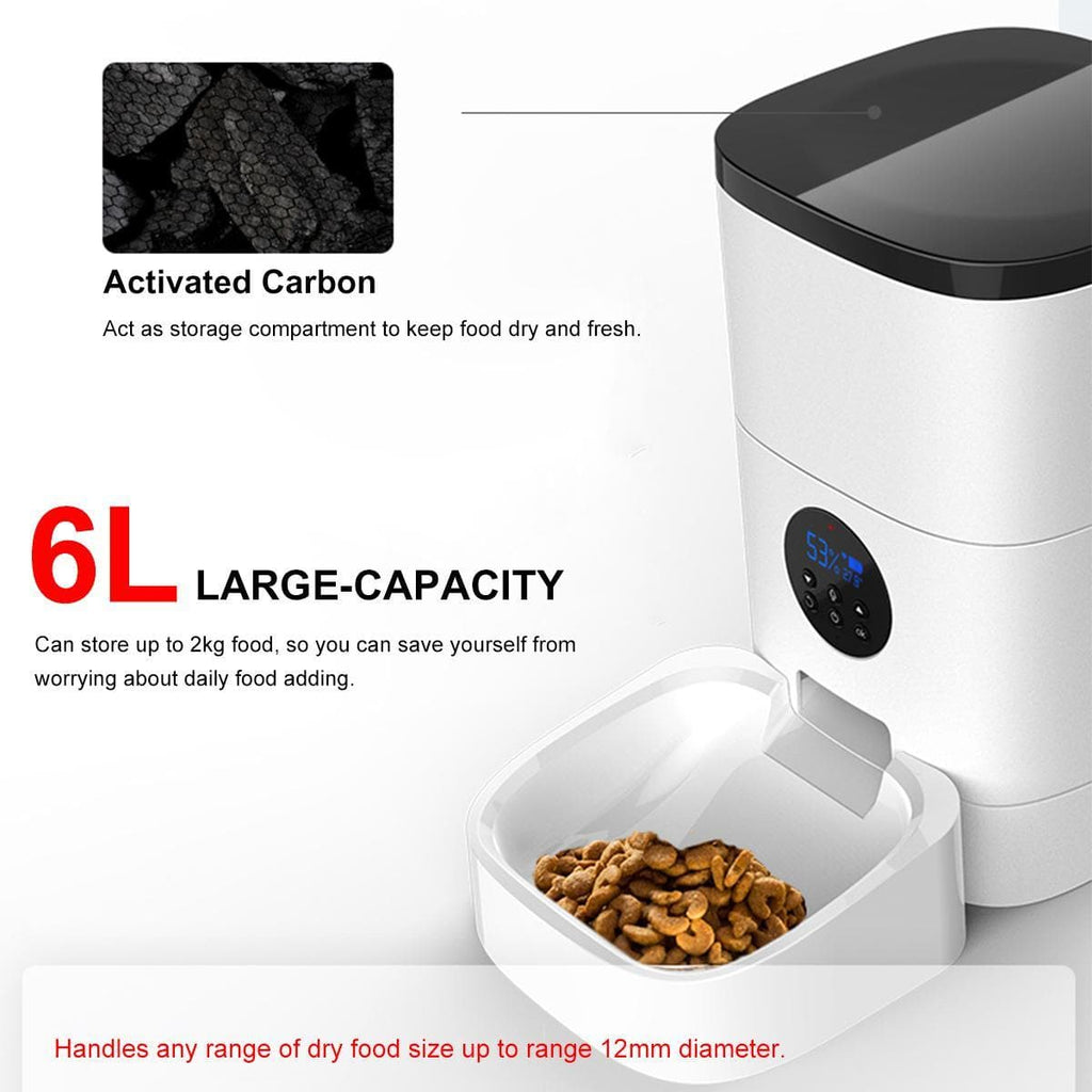 6L Pet Automatic Feeder Smart Voice Recorder APP Control