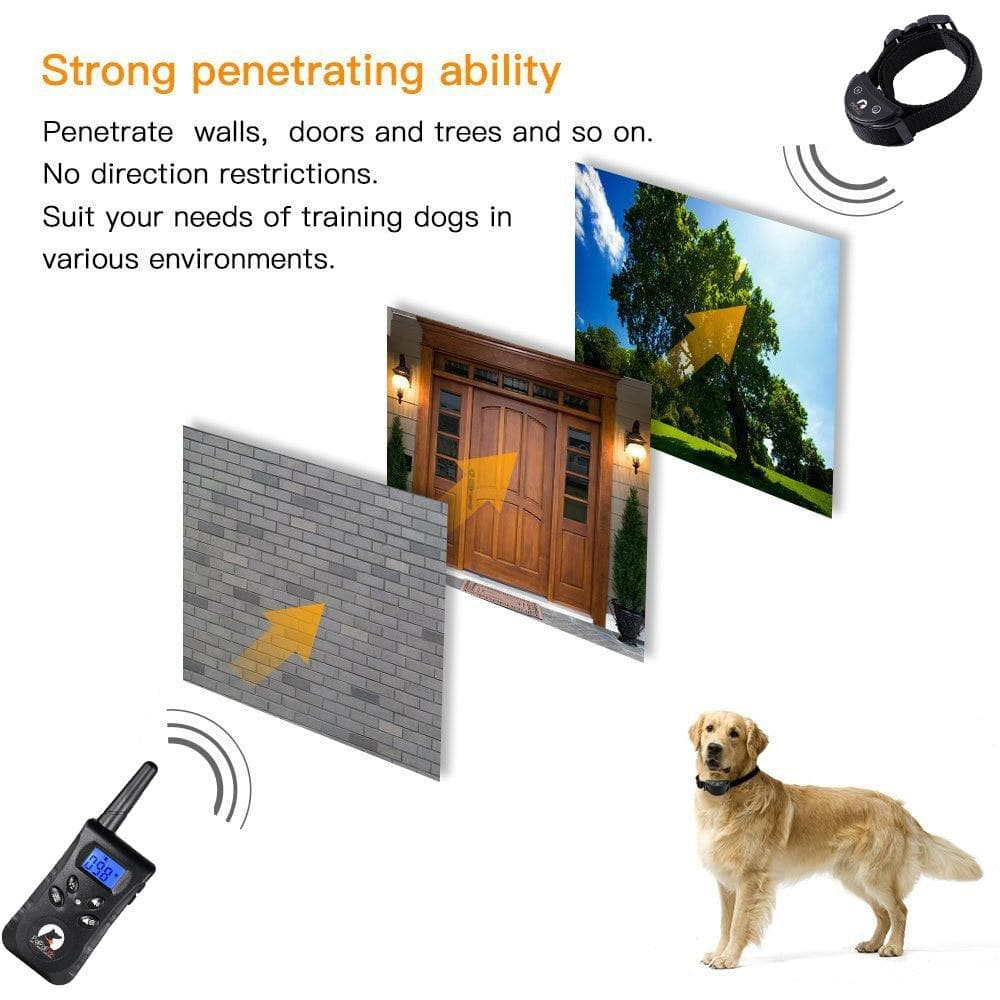 No Shock Dog Training Collar with Remote for 1-2 Dogs Safe Training