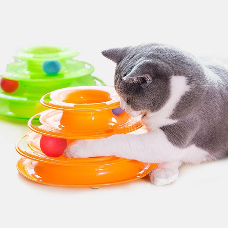 Three Levels Kitten Tower Tracks Pet Toy