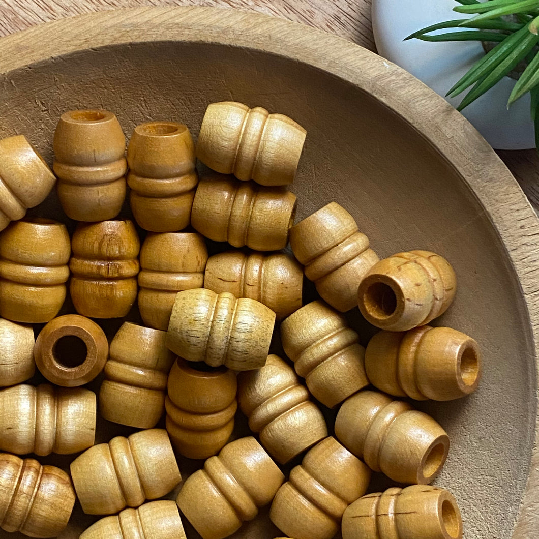 Wooden oval bead
