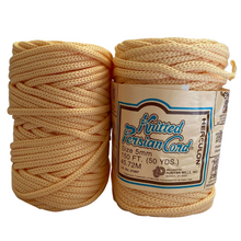 Load image into Gallery viewer, (Eggshell) Vintage Knit Synthetic Cord - 5mm / 50yd
