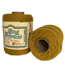 Load image into Gallery viewer, Harvest Gold Vintage Knitted Cord - 5mm / 50yd