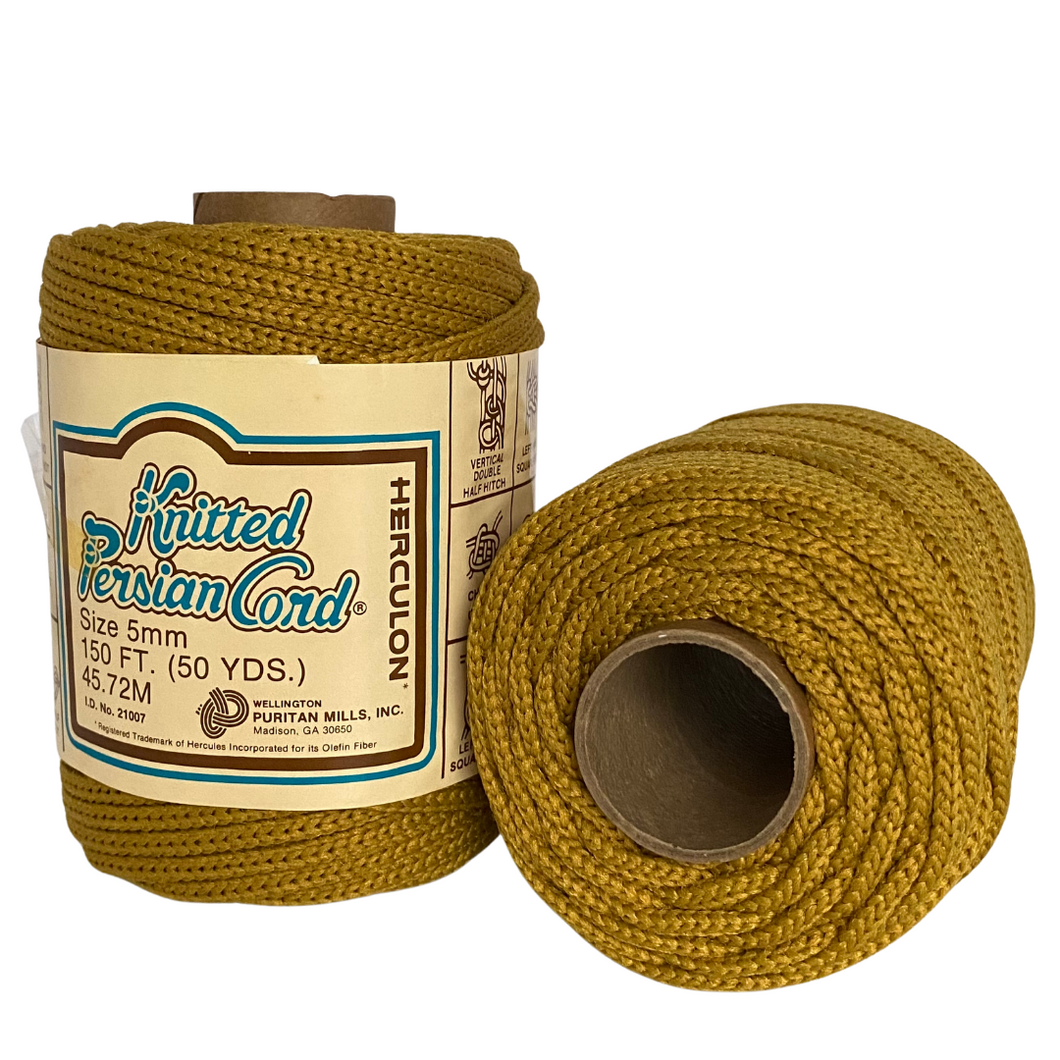 Harvest Gold Vintage Knitted Cord - 5mm / 50yd
