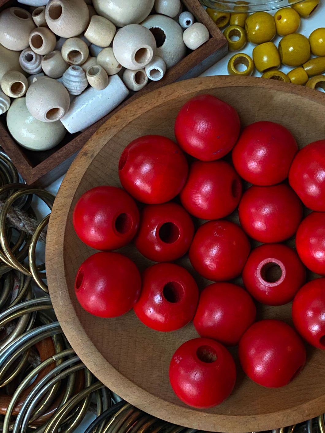 XL Wooden Red Beads