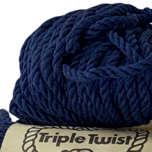 Load image into Gallery viewer, (Dark Blue) Triple Twist Cord - 5mm / 50yd