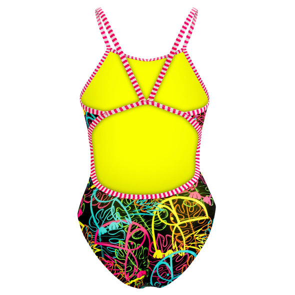 Dolfin Uglies Grafitti Jungle String Back 1-Piece