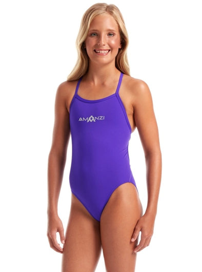 Amanzi Tie Back Girls One Piece Swimsuit