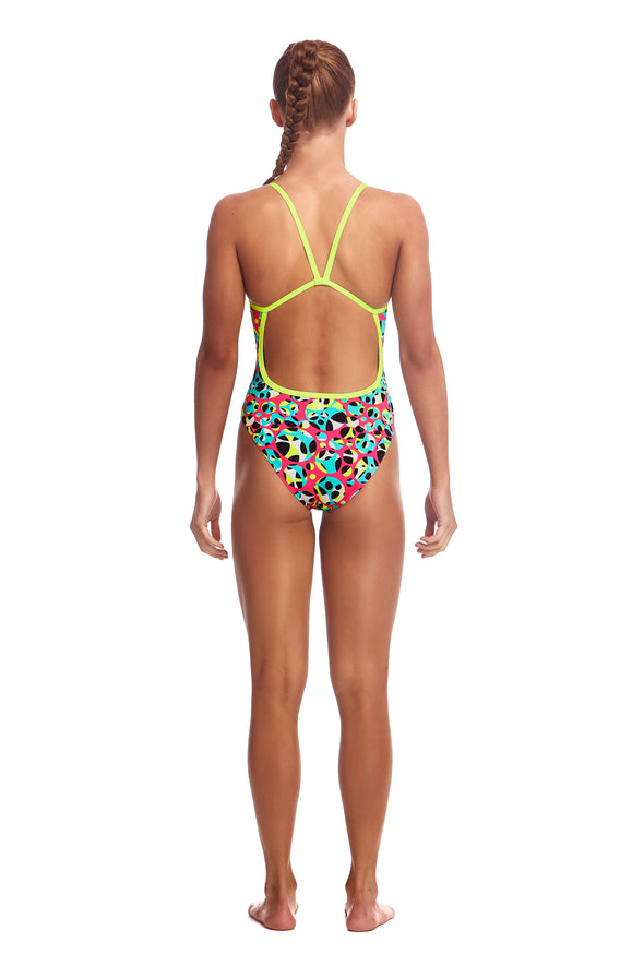 FUNKITA Alotta Dots Girls Single Strap One Piece