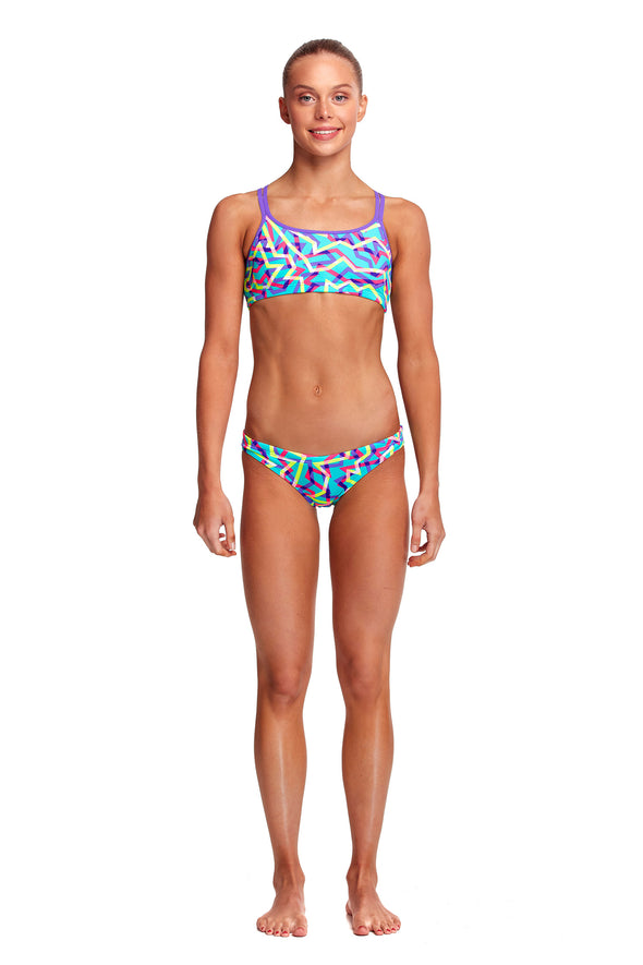 FUNKITA Mint Strips Girls Criss Cross 2 Piece