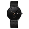 URBANE Stainless Steel Lige Analog Watch - Black Gold
