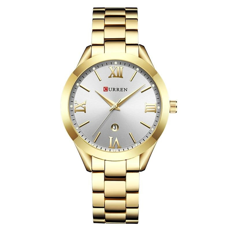 TWILIGHT Stainless Steel Analog Curren Watch - Gold White