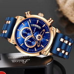 IMPERIAL Chronograph Lige Analog Watch - Rose Gold, Blue