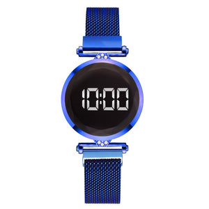 LUXE DIA Digital Stainless Steel Watch - Blue