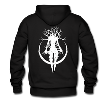Load image into Gallery viewer, Front & Back Logo Unisex Hoodie - black