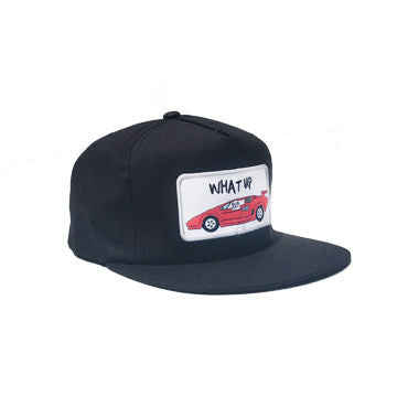 What Up Snapback Black