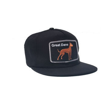 Great Dane Black Snapback