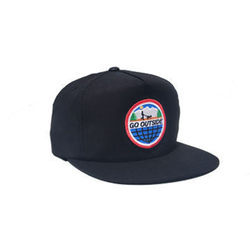 Go Outside Snapback Black