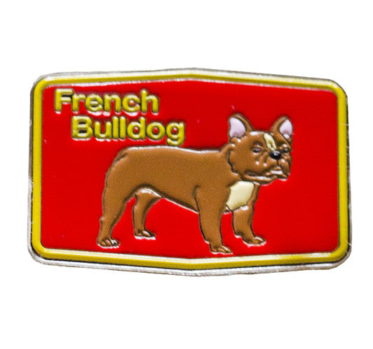 Frenchie Patch Lapel Pin
