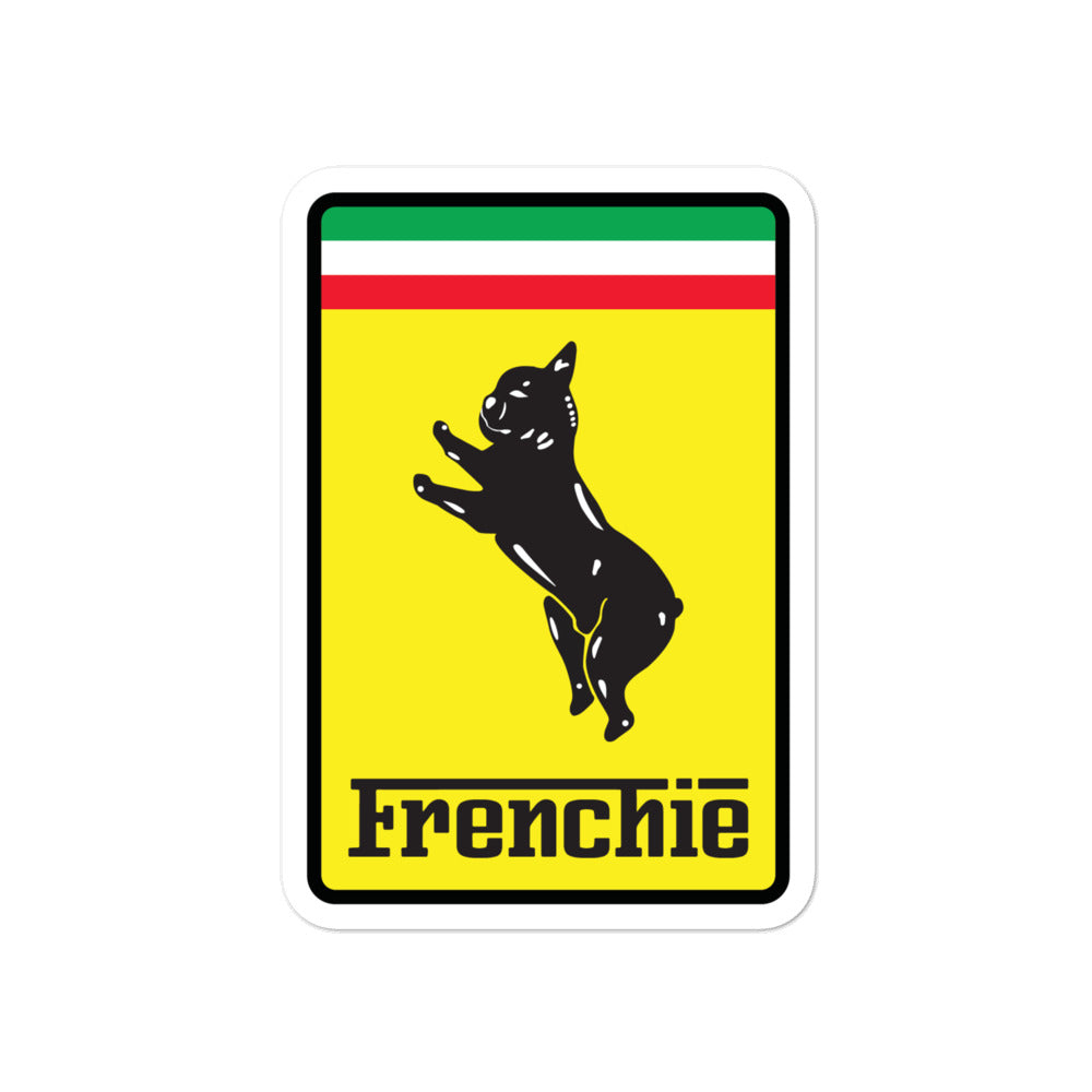 Frenchie-rarri Sticker