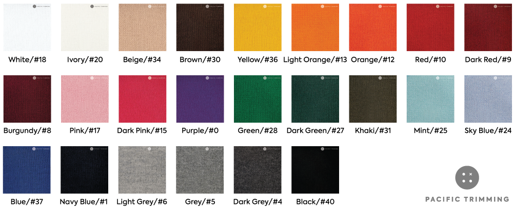 Rib Knit Guideline By Color